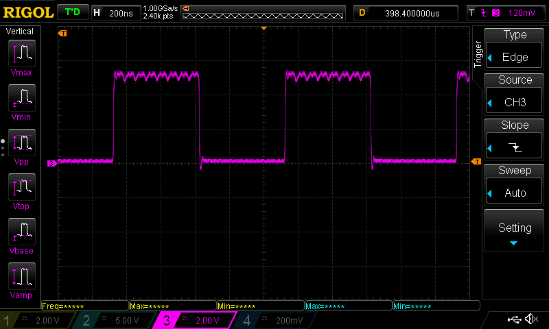 AVR DDS: 1 MHz high speed TTL