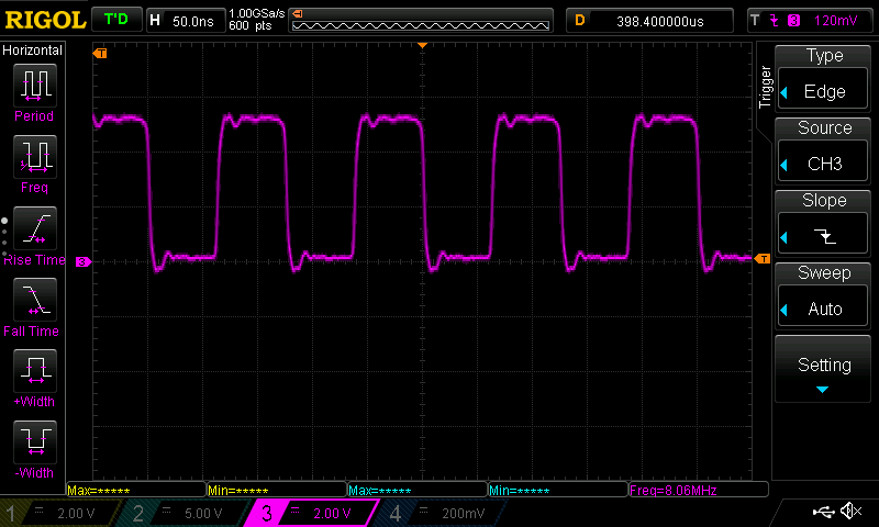 AVR DDS: 8 MHz high speed TTL